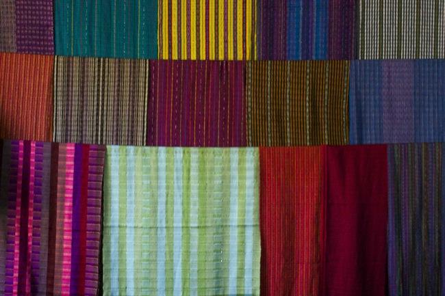 Textiles for sale in San Antonio, Guatemala