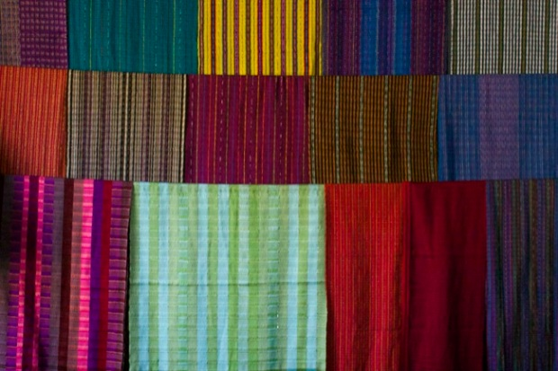 Textiles for sale in San Antonio, Guatemala