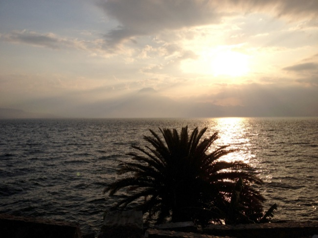 Sunset over Lake Atitlán
