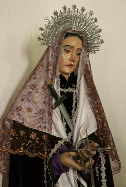 Santa Caterina herself, in the church at Santa Caterina