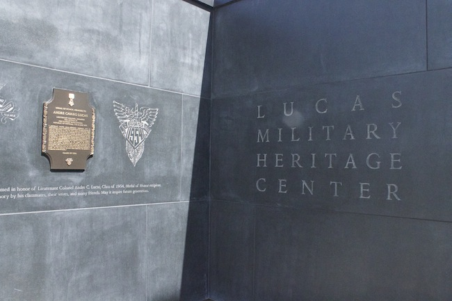 Entrance to the Lucas Military Heritage Center