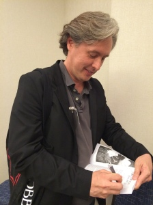 "Me, the author, autographing my story in ""Long Hidden: Speculative Fiction from the Margins of History"""