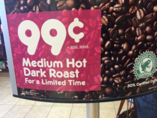 "Hey, Dunkin, ""Medium Hot"" means what exactly?"