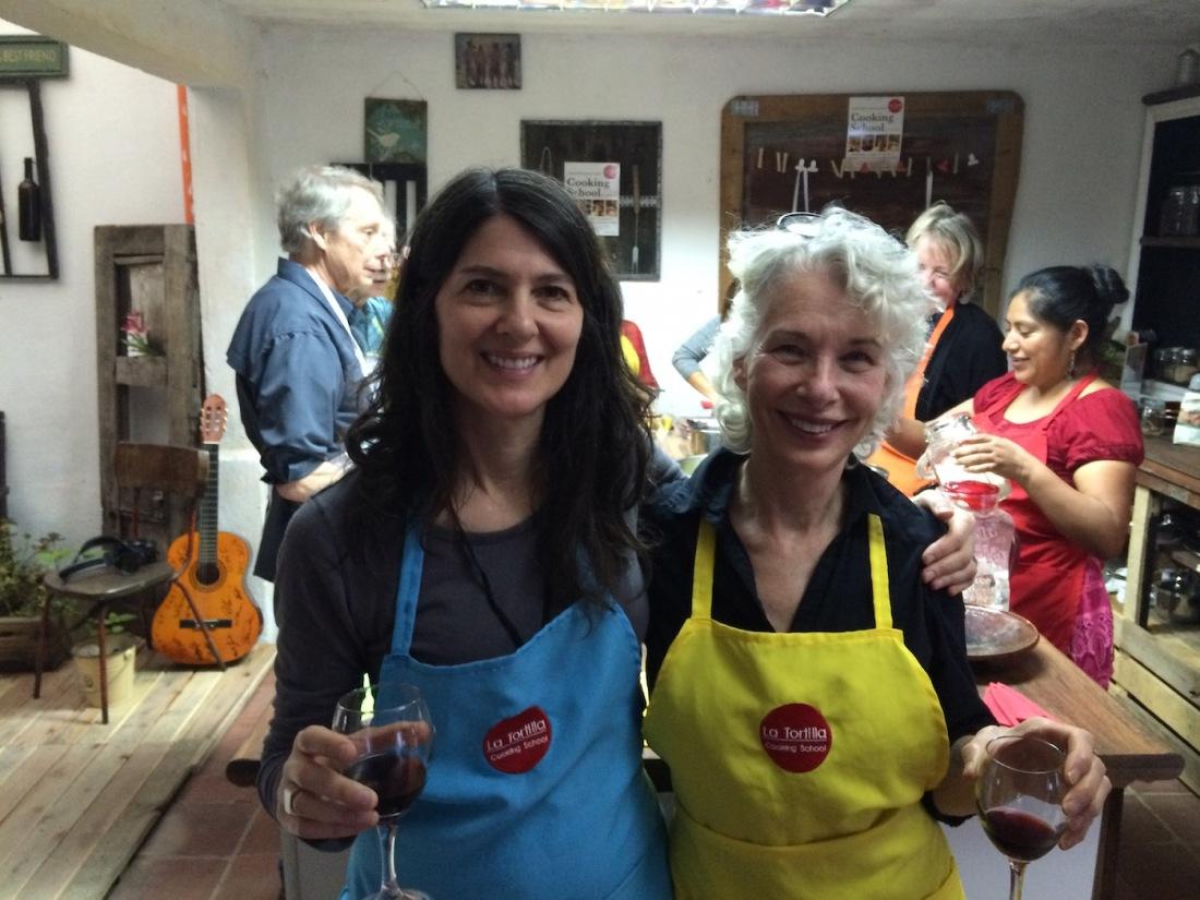 Deborah Zlotsky and Crit Streed at La Tortilla Cooking School in Antigua, Guatemala